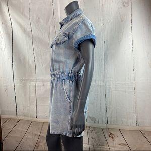 Signature8 Pants & Jumpsuits - Signature8 denim button down romper